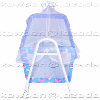 K.baby เปลไกวเด็กอ่อน ลายแฟนซี ขนาด (60 x 102 x 83) + มุ้งกันยุงและมลง (สีฟ้า) (image 1)