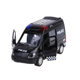 Harga Force Control Pull Back Alloy Car Model Kids Car Toy (Black Police Car) - intl