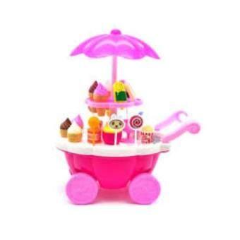 BaByBlue Toy รถเข็นร้านขายไอศครีม สีชมพู