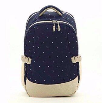 Audrey กระเป๋าเป้สะพายหลังสำหรับคุณแม่ กระเป๋าใส่ผ้าอ้อม ขวดนม ของใช้เด็ก กันน้ำ รุ่น DN083 สีน้ำเงินลายจุด