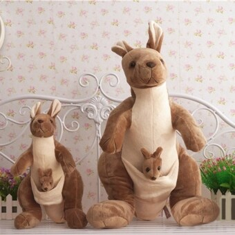 Harga CUTE Mother Kangaroo and Baby Stuffed Animals Soft Toys Plush Dolls 26 CM - intl