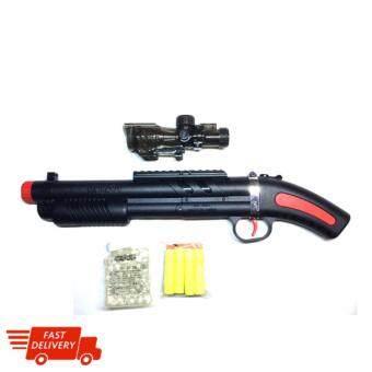 ปืนยิงกระสุนน้ำ ปืนยิงกระสุนโฟม ทรงปืนลูกซอง Bullet shotgun.