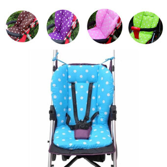Cotton Baby Stroller Seat Cushion Polka Dot Printed Liner Seat Soft Thick Pad(Blue) - intl