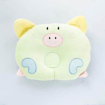 Pstore หมอนหลุม หมอนหัวทุย หมอนเด็กทารก หมอนเด็กอ่อน Baby pillow /สีเขียว