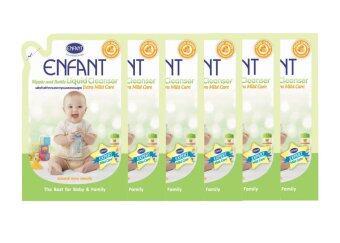 Enfant น้ำยาล้างขวดนม ของเล่น ผักผลไม้ สูตรอ่อนโยน ชนิดเติม ( 700 ml x 6 )