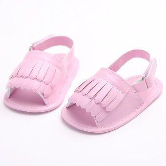 ทารกแรกเกิดถึง 18เดือนนุ่มลื่นพื้นรองเท้าสีชมพูน่ารัก ๆ เด็ก ๆ รองเท้าแตะรองเท้าผ้าฝ้ายฤดู S1497 - Intl