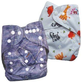 BABYKIDS95 กางเกงผ้าอ้อมกันน้ำ รุ่นดีลักส์ ไซส์เด็ก 3-16กก. เซ็ท 2ตัว แบบที่ 71