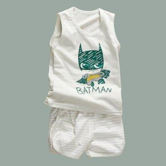 Harga Baby lily Bear Fashion Baby Boys Girls Cool Casual Kids 2Pcs Vest Top + Pant Clothing Set - intl