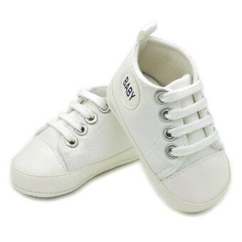 โคบาลหนุ่มสาวเป็นรองเท้าผ้าใบ Prewalkersทารกป้องกันการลื่นเด็กรองเท้าขาว