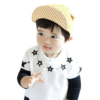 Harga Baby Boy Beret Baby Girls Sun Hat(Yellow)