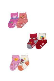 Dsox ถุงเท้าเด็ก 0-6 เดือน - Multicolor (แพ็ค 6 คู่)