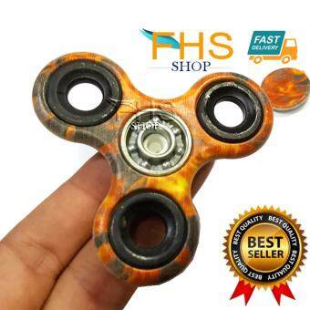 FHS fidget spinner รุ่นพิมพ์ลายสวยงาม ให้ความรู้สึกผ่อนคลาย แบริ่งขนาดใหญ่ลื่นได้ดี