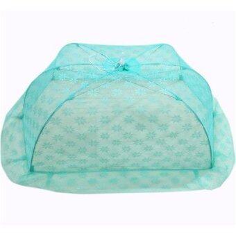 มุ้ง ครอบ ทารก ราคาโรงงาน (ขนาด M ) ยาว115cm กว้าง60cm สูง40 cm ใช้กันยุงและแมลงต่าง ๆ(Green)