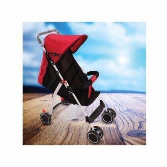 รถเข็นเด็ก baby soft 6 wheel สำหรับเด็ก 6 เดือน - 3 ขวบ รับน้ำหนัก 15kg - สีแดง