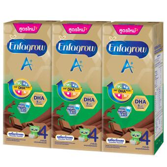 ขายยกลัง! Enfagrow A+ UHT เอนฟาโกร เอพลัส 4 ยู เอช ที รสช็อคโกแล็ต (24 กล่อง)