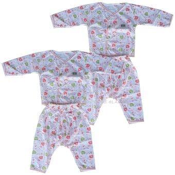 Babi Care ชุดเด็กอ่อนแขนยาว แบบผูกหน้า เเรกเกิด คละลายสีชมพู (2 ชุด)(Red 0-3 เดือน)