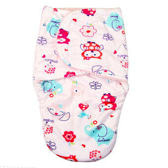 Harga Baby Short plush double little swaddle Pink owl