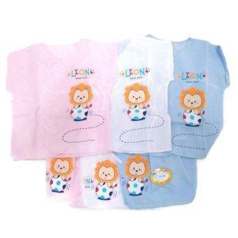Babies Four ชุดผูกหน้าผ้าป่านลายสิงโต แพ็ค 3 ชุด