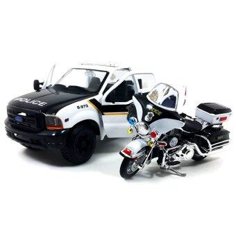 Harga Maisto รถโมเดล FORD F-350 SUPER DUTY PICKUP 1999 and FLHTPI ELECTRA GLIDE POLICE 2004 (1/27)