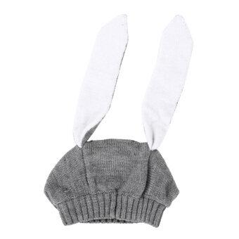 หมวกหูกระต่ายหนาวเด็ก ๆ สวมหมวกผ้าขนสัตว์ไหมพรมเด็กสำหรับเด็ก 0 แบบ 3 แกน Y (image 0)