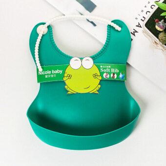 ซิลิโคนกันน้ำกันเปื้อนเด็กอ่อนสีเขียว