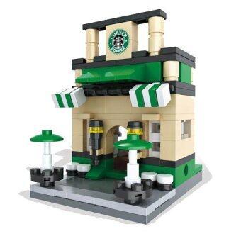 HSANHE Mini Street Coffee Shop Lego เลโก้ร้านกาแฟ