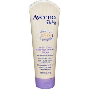 Aveeno, Baby Calming Comfort Lotion, Lavender & Vanilla, 8 oz (227 g) โลชั่นทาผิวเด็กลิ่นลาเวนเดอร์ ช่วยให้ผ่อนคลาย