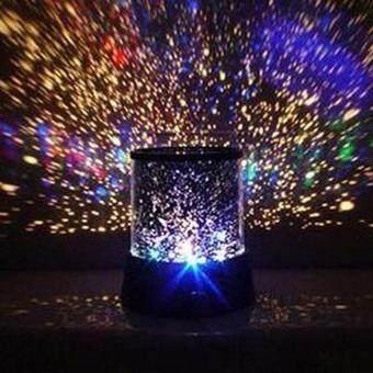 leegoal โรแมนติกฟ้าดาวหมุนอัตโนมัติกลางคืนสว่าง led กามเทพฉายไฟกับนายดาวฟังเพลงสีแบบสุ่ม