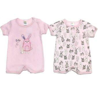LITTLE BABY M เสื้อผ้าเด็กเล็ก ชุดหมีแพ็คคู่ สีชมพู