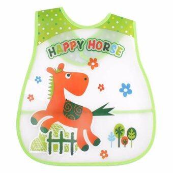Baby Touch ผ้ากันเปื้อนเด็ก กันน้ำ ลายม้าแข่ง