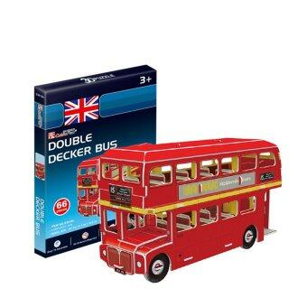 Harga Cubic Fun Miniature 3D Paper Puzzle Kids Gifts Kits Toy-Double Decker Bus (Intl)