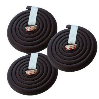 โฟมยางกันกระแทกสำหรับเด็ก ความยาว 2 เมตร Soft Edge Cushion Strip (สีน้ำตาลเข้ม) ชุดเช็ต 3 ม้วน