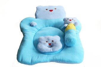 Attoon ชุดที่นอนผ้าขนหนู รูปลูกแมว - สีฟ้า
