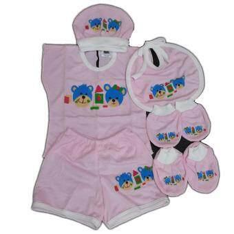 BABYKIDS95กางเกงผ้าอ้อมชาโคลขอบปกป้อง พร้อมแผ่นซับ ไซส์เด็ก3-16กก. (สีแดงจุดดำ)