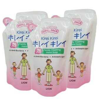 Lion Kirei Kirei Family Foaming Hand Soap 200 ml. (3 ถุง)