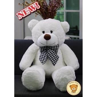 RADA ตุ๊กตาหมี ขนาด 1 เมตร (สีขาว) ผลิตในประเทศไทย แถมฟรี Wristband ที่ระลึก ร. 9 จำนวน 1 คู่