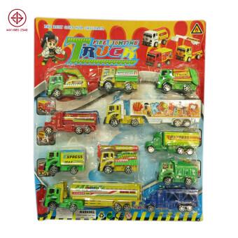 SCMShop ของเล่นเด็ก ของเล่นสมมุติ รถเด็กเล่น รถคอนวอย 11 คันต่อแผง รุ่น 113148
