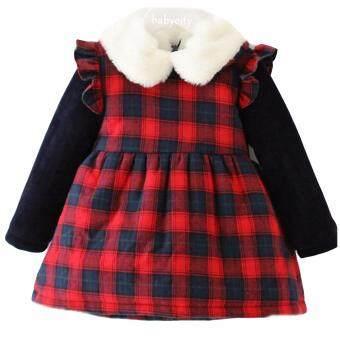 ชุดเดรสเด็ก เสื้อกันหนาวเด็ก เสื้อหนาวเด็ก เสื้อโค้ทเด็ก ชุดเด็กผู้หญิง เสื้อผ้าเด็กผู้หญิง เสื้อคลุมเด็ก สีแดง ลายสก็อต
