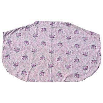 HPTJ ผ้าคลุมให้นมแบบเต็มตัว สีม่วง ผ้าคอตตอนพิมพ์ลายดอกไม้