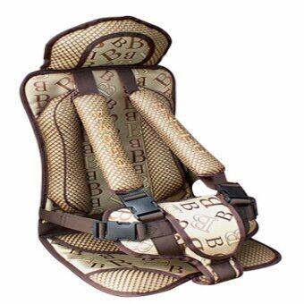 คาร์ซีทแบบพกพา (Child Car Seat) ที่นั่งในรถสำหรับเด็ก (สีครีม)7