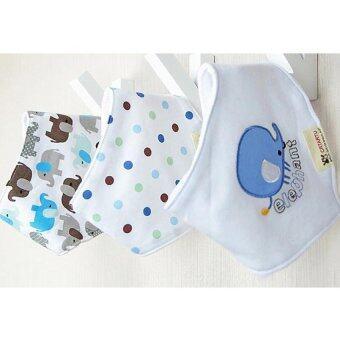 Baby Touch ผ้ากันเปื้อนเด็ก เซตเบสิค 3 ผืน ลายช้าง