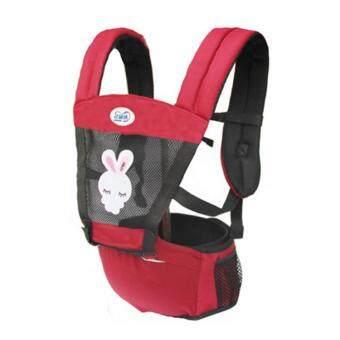 สีแดง ระบายอากาศได้ ไหล่คู่ Baby Carrier ผู้ให้บริการทารก เอว เข็มขัด with เอว ม้านั่ง - intl