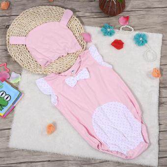 Harga Boy Girl Baby Cartoon Romper Bodysuit Jumpsuit Sleeveless Clothes With Hat Light Pink Rabbit 80 - intl