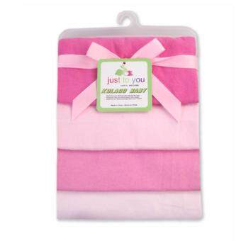 Babyshop656 ผ้าอ้อมอเนกประสงค์ แพค4ผืน ขนาด76x76cm. รุ่นเบอร์3 สีชมพู / JTY - Blanket pack of 4 No.3 Plain pink
