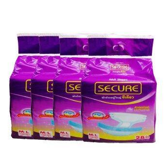 ขายยกลัง Secure ผ้าอ้อมแบบเทปผู้ใหญ่ size L-XL 4 ถุง/ลัง ( 24 ชิ้น/ถุง )
