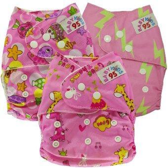 BABYKIDS95กางเกงผ้าอ้อมเด็ก กันน้ำ รุ่นดีลักส์ ไซส์เด็ก3-16กก.เซ็ท3ตัว P3038