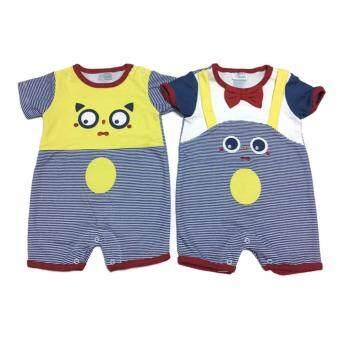 LITTLE BABY M เสื้อผ้าเด็กเล็ก ชุดหมีแพ็คคู่ R23
