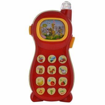 โทรศัพท์มือถือสอนภาษา นับเลข มีเสียงเพลง ไฟส่องรูปสัตว์