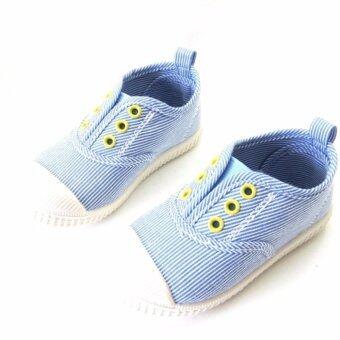 Ms Rabbit รองเท้าผ้าแคนวาส รองเท้าผ้าใบเด็กสีสันสดใส Size 18.0