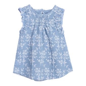 Kids Baby Girls Summer Beach Floral Dress Princess Party Pageant Dresses - intl